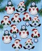 Design Works Crafts Snowflake Santa Ornaments Christmas Craft Kit