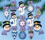 Design Works Crafts Frosty Fun Ornaments Christmas Craft Kit