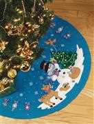 Design Works Crafts Frosty Fun Tree Skirt Christmas Craft Kit