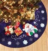 Design Works Crafts Snowflake Santa Tree Skirt Christmas Craft Kit