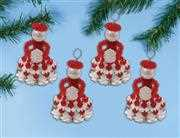 Design Works Crafts Winter Girls - Red Ornaments Christmas Craft Kit