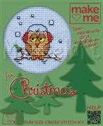Mouseloft Cosy Owl Christmas Card Making Cross Stitch Kit