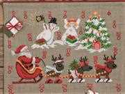 Permin Reindeer and Snowmen Advent Christmas Cross Stitch Kit
