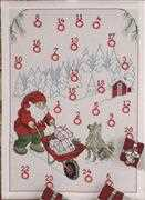 Permin Winter Delivery Advent Christmas Cross Stitch Kit