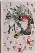 Permin Santa and Reindeer Advent Christmas Cross Stitch Kit