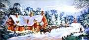 Gobelin-L Christmas Visit Tapestry Canvas