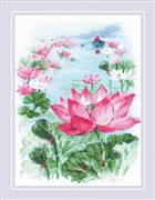 RIOLIS Lotus Field - Fisher Cross Stitch Kit