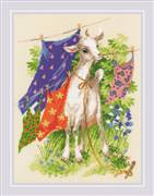 RIOLIS Naughty Goat Cross Stitch Kit