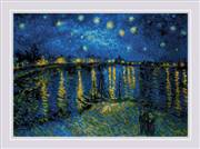 RIOLIS Starry Night over the Rhone Cross Stitch Kit