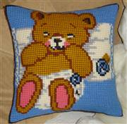 Gobelin-L Baby Bear Blue Cushion Cross Stitch Kit