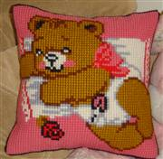 Gobelin-L Baby Bear Pink Cushion Cross Stitch Kit