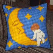 Gobelin-L Baby on the Moon Cushion Cross Stitch Kit