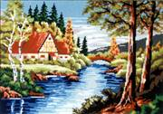 Gobelin-L House by the River Tapestry Canvas