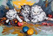 Gobelin-L Three Kittens Tapestry Canvas