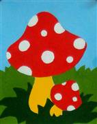 Gobelin-L Red Mushroom Tapestry Canvas