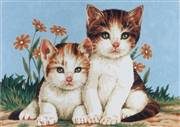 Diamant Kittens Tapestry Canvas