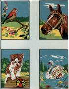 Diamant Collection of Four Animals Tapestry Canvas