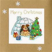 Bothy Threads Winter Woof Christmas Card Making Cross Stitch Kit