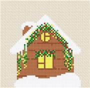 Luca-S Christmas Cabin Cross Stitch Kit