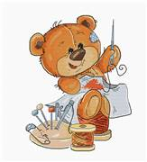 Luca-S Teddy Bear Stitching Cross Stitch Kit