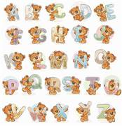 Luca-S Teddy Bear Alphabet Cross Stitch Kit