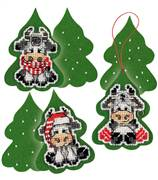 RIOLIS Three Calves Decorations Christmas Cross Stitch Kit