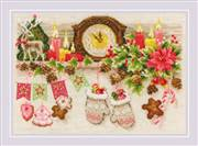 RIOLIS Christmas Shelf Cross Stitch Kit