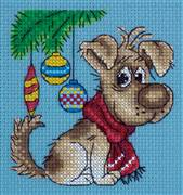 Klart Christmas Pup Cross Stitch Kit