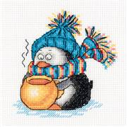 Klart Penguin Cocoa Christmas Cross Stitch Kit