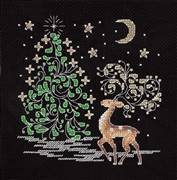 Klart Moonlit Reindeer Christmas Cross Stitch Kit