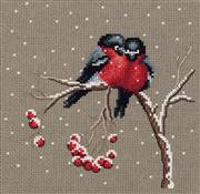 Klart Winter Birds Christmas Cross Stitch Kit