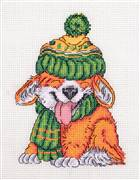 Klart Wrapped up Pup Christmas Cross Stitch Kit