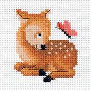 Klart Fawn and Butterfly Cross Stitch Kit