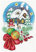 Klart Bauble Snow Scene Christmas Cross Stitch Kit