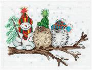 Klart Snowman and Birds Christmas Cross Stitch Kit