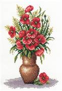 Panna Poppy Bunch Cross Stitch Kit