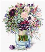 Panna Bouquet with Anemones Cross Stitch Kit