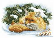 Panna Little Fox Christmas Cross Stitch Kit