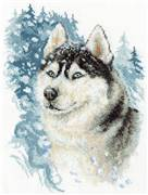 Panna Loyal Husky Christmas Cross Stitch Kit