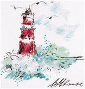 Panna Watercolour Lighthouse Cross Stitch Kit