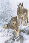 Panna Winter Wolves Cross Stitch Kit