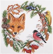 Panna Winter Wildlife Wreath Christmas Cross Stitch Kit