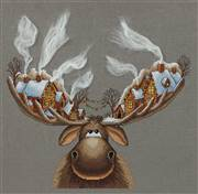 Panna Christmas Moose Cross Stitch Kit