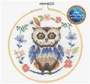 DMC Folk Owl Cross Stitch Kit