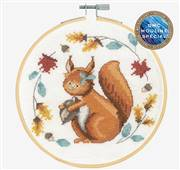 DMC Folk Squirrel Cross Stitch Kit