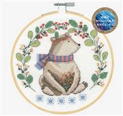 DMC Folk Bear Cross Stitch Kit