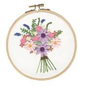 DMC Cosmos Bouquet Embroidery Kit