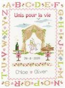 DMC Happily Ever After Wedding Sampler Cross Stitch Kit