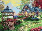 Gobelin-L Wishing Well Cottage Tapestry Canvas