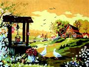 Gobelin-L Farmhouse Well Tapestry Canvas